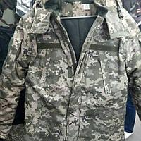 Бушлат зимний ВСУ (ММ14) синтепон + флис (крой - реплика уставной куртки 2017) размер 44
