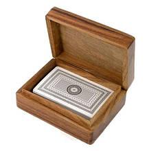 Карты игральные ТМ Duke в деревянном футляре 11х8,5х4 см Арт. WB109