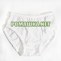 Детские трусики р. 98-104 для девочки ткань КУЛИР 100% хлопок 3906 Белый 98