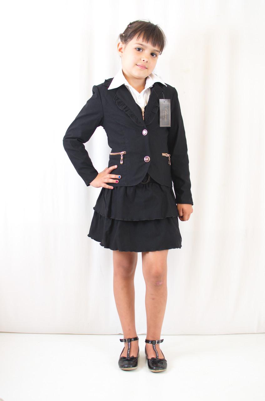 Школьная форма для девочек красивый пиджак черный