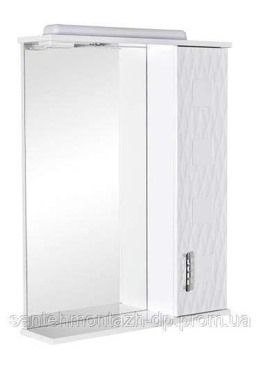Зеркало-шкафчик для ванной Аква Родос Ассоль 65