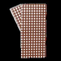 """Бумага упаковочная """"Гамбургер"""" 320*320 1000шт коричневая клетка (315)"""