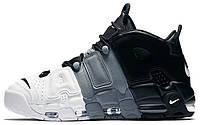 Мужские кроссовки Nike Air More Uptempo White Black Grey Найк  Аир Антемпо