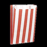 """Пакет бумажный """"Красные полоски"""" 170*120*50  100шт (251)"""