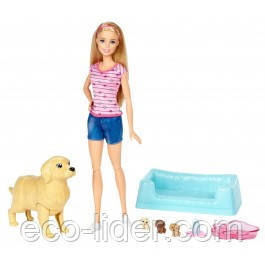 """Набор с куклой Barbie """"Малыши-щенки"""""""
