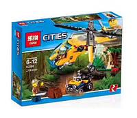 Конструктор Lepin 02080 Cities Грузовой вертолёт исследователей джунглей (аналог Lego City 60158)