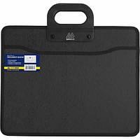Портфель пластиковый BuroMax В4 пластиковый 2 отделения черный Арт. BM.3733-01