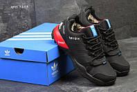 Чоловічі зимові  кросівки  Adidas Terrex (3293) чорні з червоним