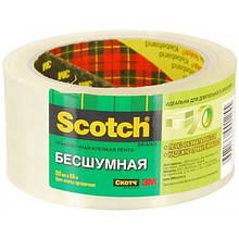 Скотч упаковочный 3М Scotch прозрачный бесшумный 50 мм х 66 м Арт. S4866F6C