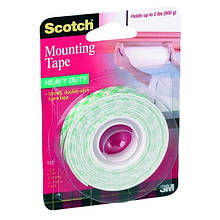 Скотч двухсторонний 3М Scotch Maunting Tape 12,7 мм х 1,9 м пена Арт. 110