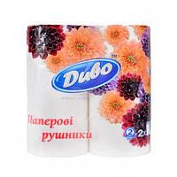 Кухонное полотенце Диво «Обухов» бумажное, белое, 2 шт.