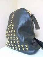 Рюкзак молодежный кожзам с золот заклеп 38*28 см