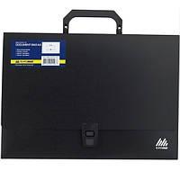 Портфель пластиковый BuroMax А4 1 отделение черный Арт. BM.3724-01