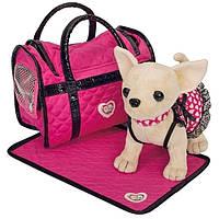 Мягкая игрушка Chi Chi Love Чихуахуа с ковриком и сумочкой 20 см Розовая мечта (5899700)