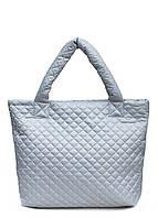 Сумка женская стеганая POOLPARTY pp1-eco-grey