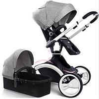 Универсальная коляска 2 в 1 Babysing W-GO Grey White