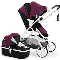 Универсальная коляска 2 в 1 Babysing M-GO Romantic purple