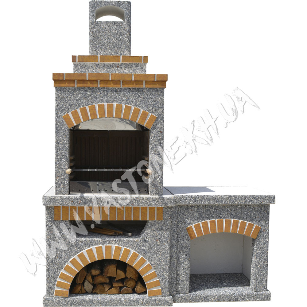 Камин, печь барбекю «Манчестер» со столом