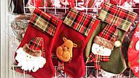 Новогодний Сапожок Деда Мороза для Подарков Сапог из Фетра Атмосфера Нового Года Рождества Упаковка 12 шт