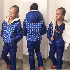 Теплый детский спортивный костюм микки