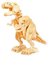 Деревянный  3D-конструктор Динозавр Т-Rex с механизмом