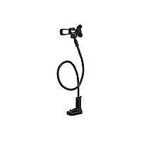 Держатель для телефона в авто Remax (OR) RM-C21 Black (Прищепка очень длинная ножка + крипление на стол прищепка)