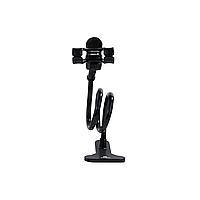 Держатель для телефона в авто Remax (OR) RM-C22 Black (Прищепка очень длинная ножка + крипление на стол прищепка)