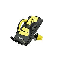 Держатель для телефона в авто Remax (OR) RM-C13 Black/Yellow (Крепление вентеляционная решетка) (8-056)