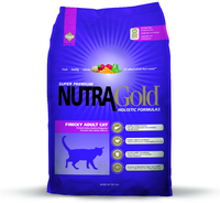 NUTRA GOLD Finicky Cat  1кг корм для котов привередливых или аллергичных (фиолетовый)