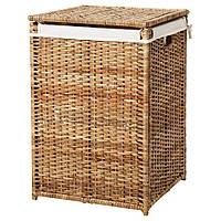 Корзины, контейнеры для белья и вещей IKEA BRANAS Корзина для белья с подкладкой, ротанг (202.147.31)