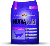 NUTRA GOLD Finicky Cat  5кг корм для котов привередливых или аллергичных (фиолетовый)