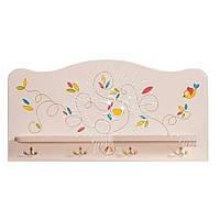 Вешалка настенная Вальтер-Мебель Вешалка с полкой Цветы жизни