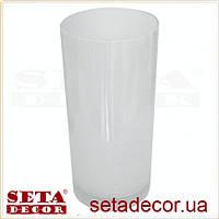Ваза Цилиндр стекло с пузырьками воздуха белая