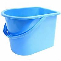 Ведро для уборки Горизонт 12 литров пластик цвет ассорти
