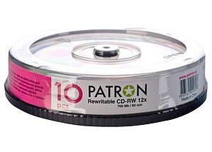 Диск CD-RW Patron 700Mb 12x Cake box 10 шт Арт. NS-C009