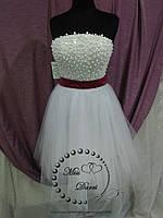 Белое короткое свадебное платье, фото 1