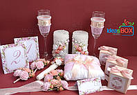 """Весільний набір """"Персиковий налив"""""""
