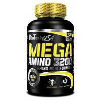 Аминокислоты BioTech Mega Amino 3200 100 табл
