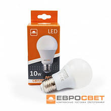 Лампа светодиодная Евросвет 10 Вт Е27 4200 К нейтральное свечение Арт. А-10-4200-27