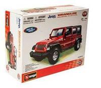 Авто-конструктор Bburago Jeep Wrangler Unlimited Rubicon (красный, 1:32)