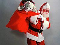 Мешочек Деда Мороза для Подарков Новогодний Мешок 60 х 40 см