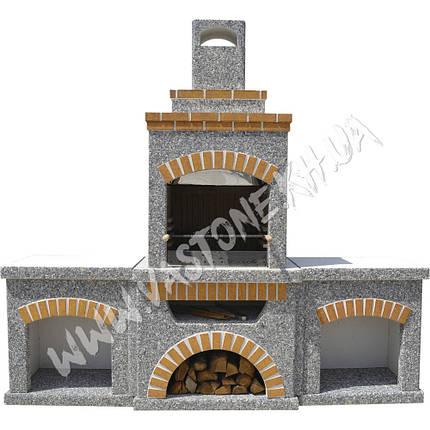 Камин, печь барбекю «Манчестер» с двумя столами, фото 2