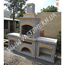 Камин, печь барбекю «Манчестер» с двумя столами, фото 3
