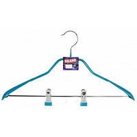 Вешалка плечики VILAND металлическая с прищепками для костюмов Арт. RE05175