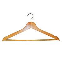 Вешалка плечики для одежды ТМ МД деревянная с нарезами Арт. RE05210