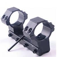 Крепление для оптики 25,4мм на ласточкин хвост, моноблок для прицела, кольца дюймовые