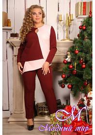 Женский праздничный брючный костюм большого размера (р. 48-90) арт. Zara
