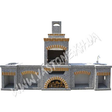 Камин, печь барбекю «Манчестер» в комлекте, фото 2