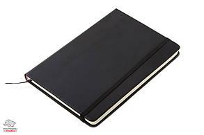 Записная книжка А5 кремовый блок в линию кожзам черная Арт. 95307601