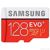 Карта памяти Samsung 128 GB microSDXC Class 10 UHS-I EVO Plus + SD Adapter MB-MC128DA